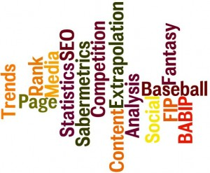 SEO and Fantasy Sports Tag Cloud, Search Engine Optimization, Social Media, Fantasy Baseball