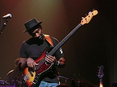 Marcus Miller with Fretless Bass Guitar